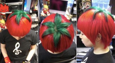 Coiffure,tomate,Japon